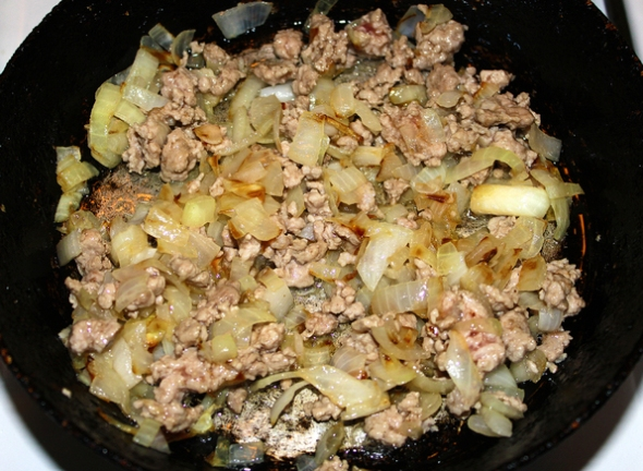 Баклажаны с мясом - шаг 4