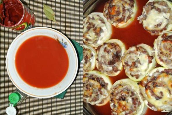 Кабачки, фаршированные мясом, шаг 6 - готовим соус