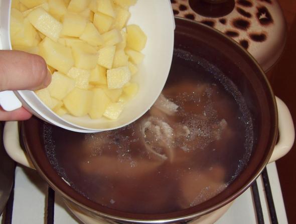 Суп с фасолью и лапшой - шаг 2