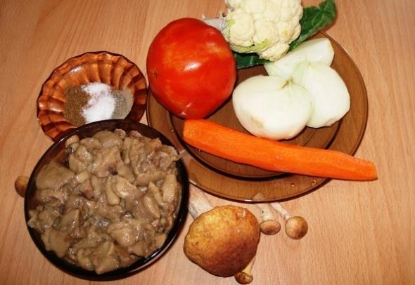 Грибная икра из маслят, с овощами - ингредиенты