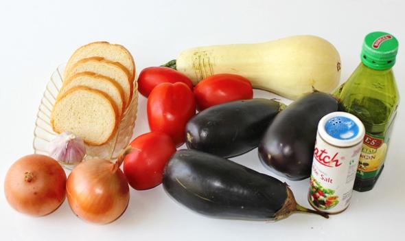 Ингредиенты для приготовления печеных баклажанов