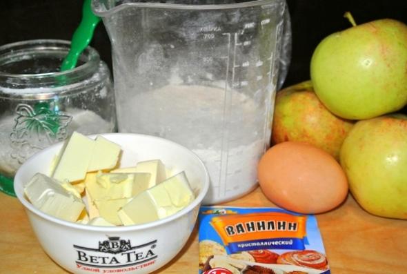 Ингредиенты для приготовления яблочной галеты