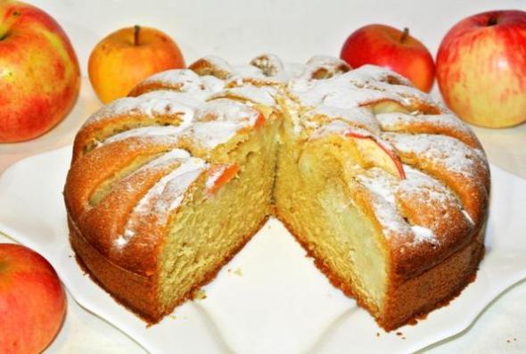Яблочный пирог рецепт со сметаной в духовке рецепт с пошагово