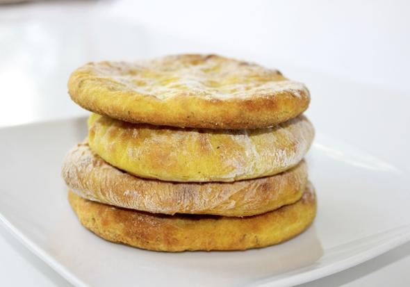 Картофельные лепешки из духовки - с чесноком и зеленью