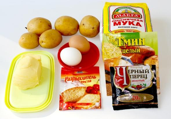 Картофельные лепешки - ингредиенты