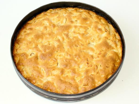 Лимонный пирог с яблоками