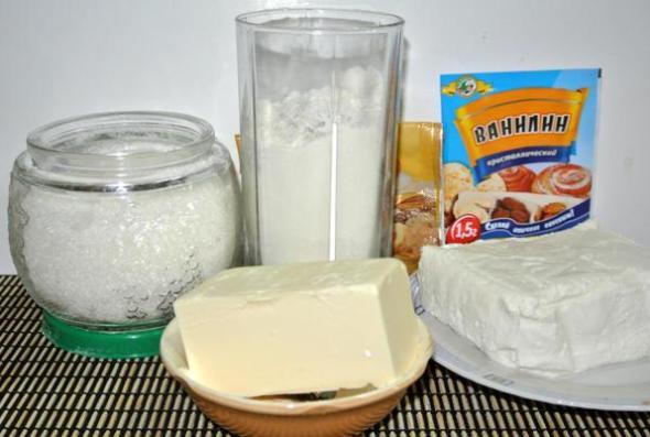 Ингредиенты для печенья конвертики