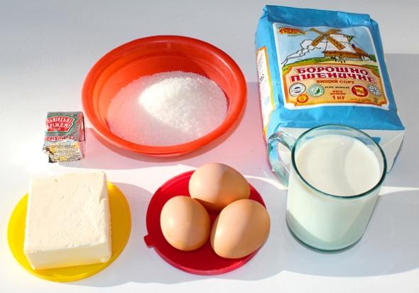 Сдобные булочки с корицей - ингредиенты