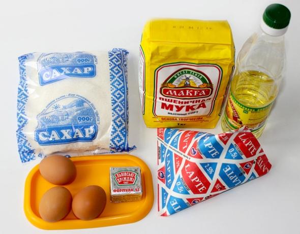 Ингредиенты для оладий на дрожжах