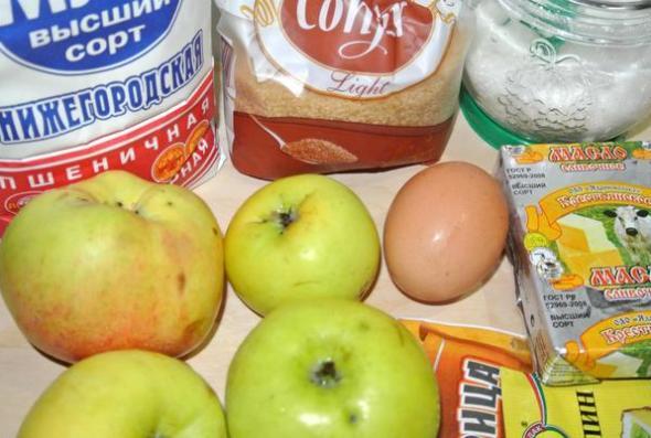 Ингредиенты для американского яблочного пая