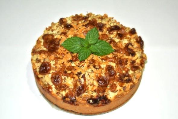Пирог с яблоками и заварным кремом, шаг 12 - даем пирогу остыть