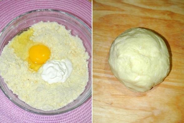 Пирог с яблоками и заварным кремом, шаг 2 - замешиваем тесто