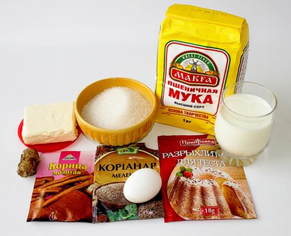 Карамельное печенье, с имбирем - ингредиенты