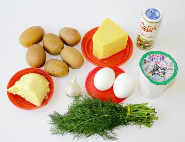 Картофельный салат - ингредиенты