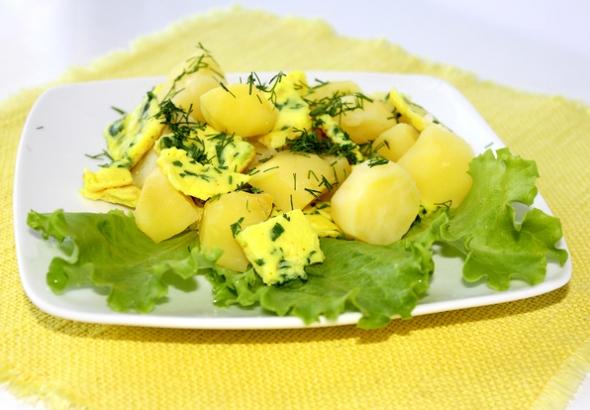 Теплый картофельный салат - шаг 7