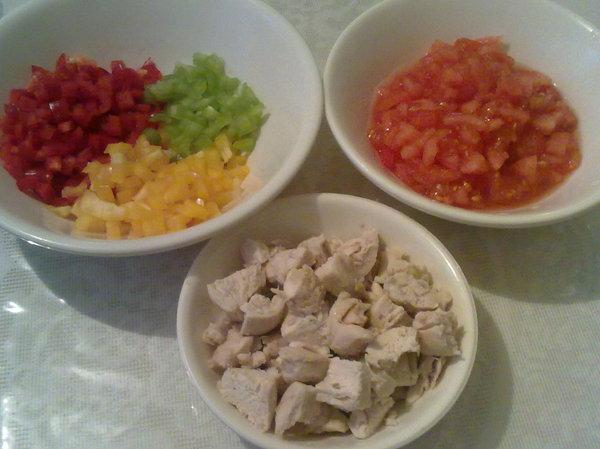 Куриная грудка с болгарским перцем - шаг 1