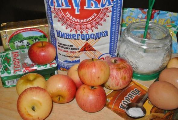 Ингредиенты для яблочного пирога по немецкому рецепту