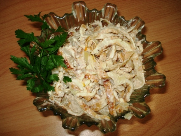 Салат омлетная лента - шаг 6