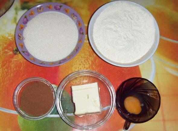 Ингредиенты для приготовления песочного печенья с какао