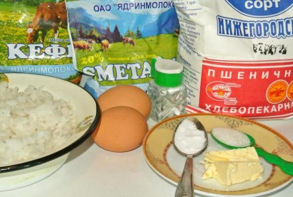 Пирожки на кефире - ингредиенты