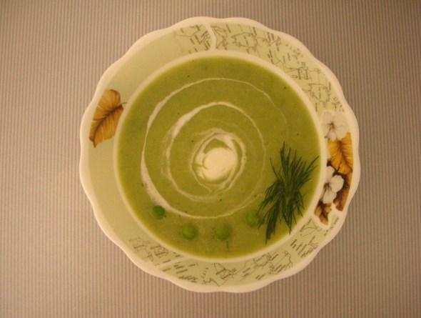 Суп-пюре из зеленого горошка замороженного - итоговое фото