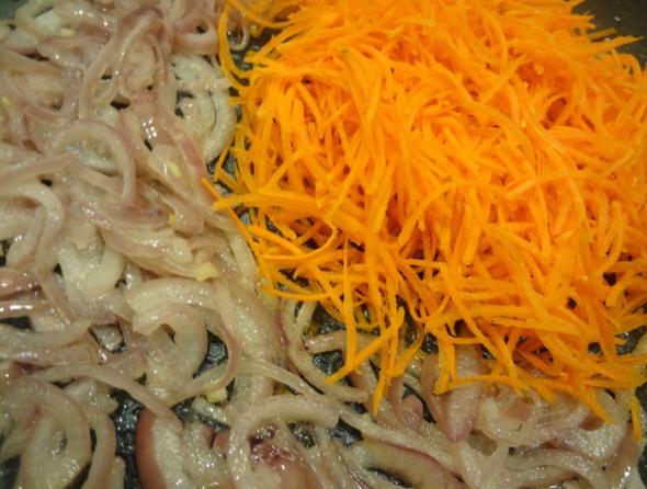 Шаг 4 - добавить морковь