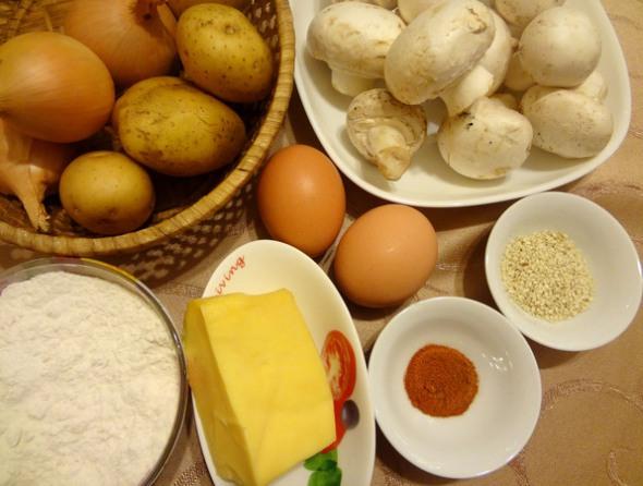 Картофельный рулет - ингредиенты