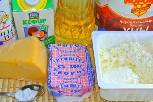 Пиде с сыром - ингредиенты
