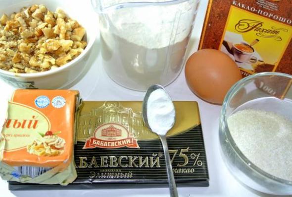 Шоколадное печенье - ингредиенты