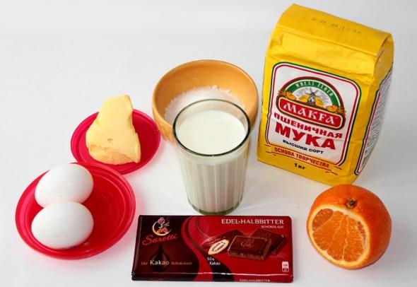 Шоколадные блинчики - ингредиенты