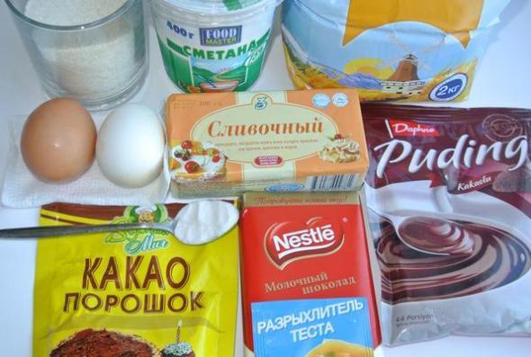 Шоколадные маффины - ингредиенты