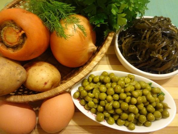 Суп из морской капусты - ингредиенты