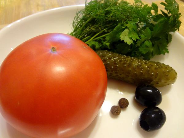 Бычок из помидора - ингредиенты