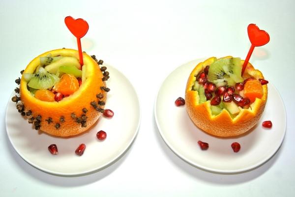 Фруктовый салат в апельсиновых пиалах – шаг 5