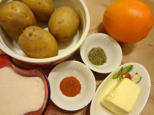 Картофель в апельсиновой глазури – ингредиенты