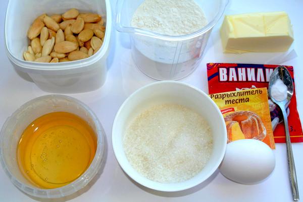 Медовые кольца – ингредиенты