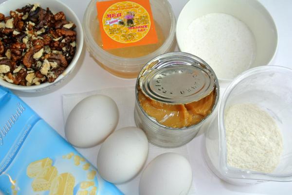 Медовый бисквит - ингредиенты