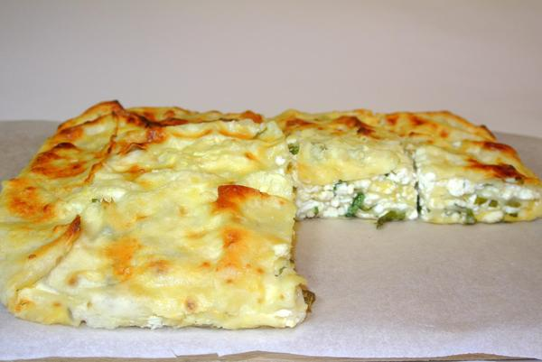 Пирог из лаваша с творогом и зеленью рецепт с
