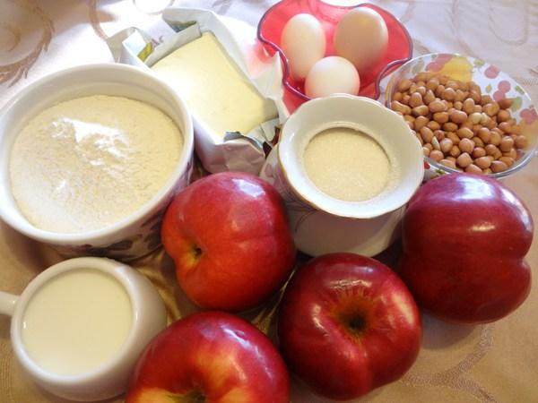 Яблочный пирог «Букет роз» – ингредиенты