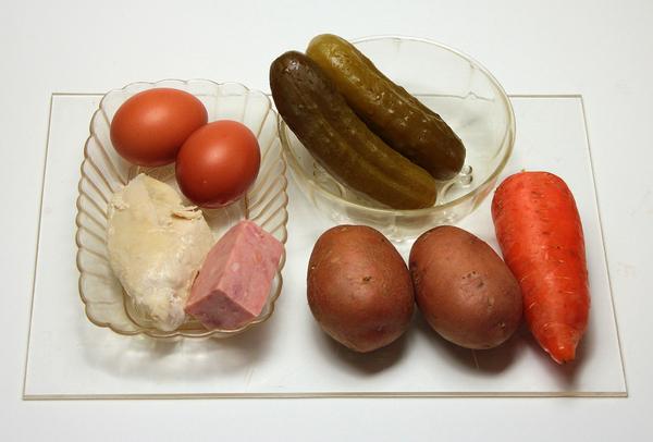Порционная закуска оливье – ингредиенты
