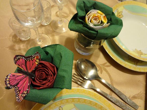 Розы из салфеток - шаг 15