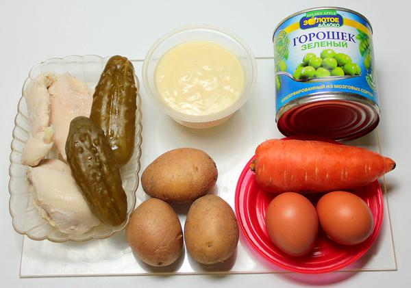 Салат оливье - ингредиенты