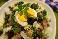 Салат из консервированной печени трески