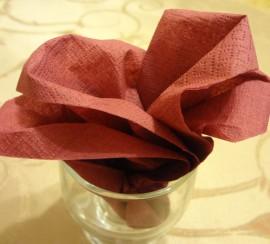 Бумажные салфетки для сервировки стола своими руками