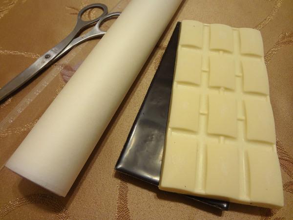 Шоколадный бант для торта – продукты и инструменты