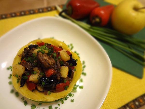 Теплый салат с куриной печенью – шаг 12