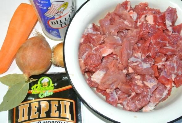 Тушеная говядина - ингредиенты