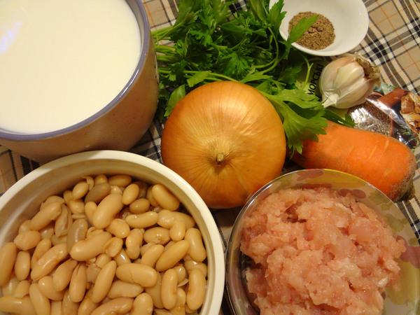 Фасолевый суп с мясным фаршем – ингредиенты