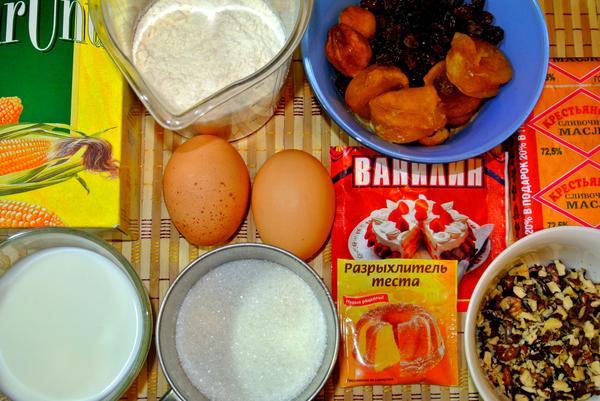 Ингредиенты для кукурузного кекса