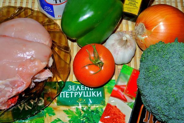 Курица с брокколи - ингредиенты